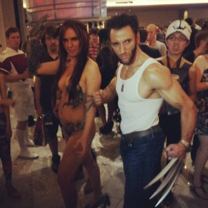 Wolverine and someone else.